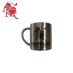 """Кружка металлическая с логотипом """"HARTMAN"""""""