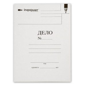 Папка-скоросшиватель ДЕЛО inФОРМАТ А4, белая, мелованный картон 280 г/м2