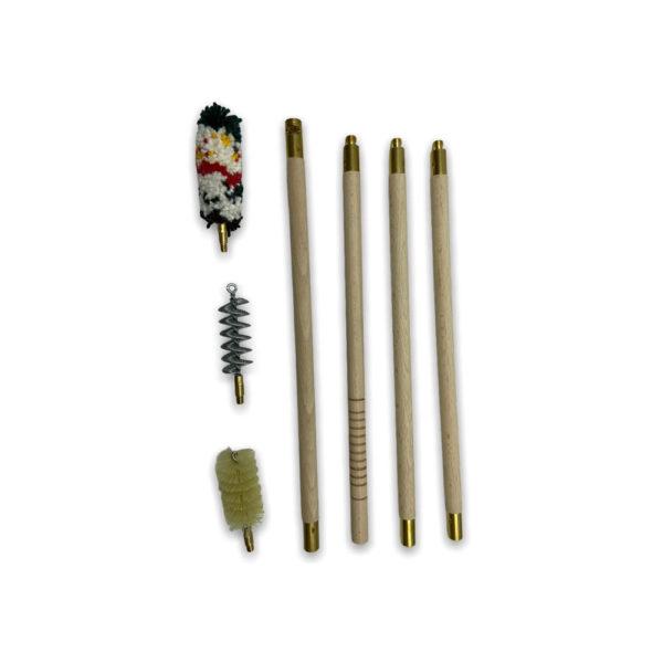Набор для чистки Stil Crin в пакете (деревянный шомпол 3 колена), калибр 12